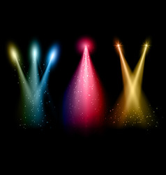 various coloured spotlights vector image vector image