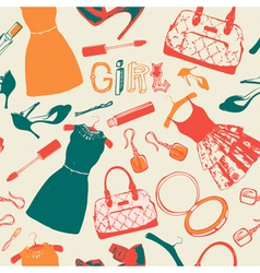 Vintage fashion pattern background vector image