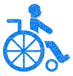 wheelchair grunge icon vector image