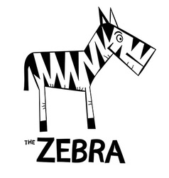 Zebra Cartoon - Black and White Zebra Symbol vector image