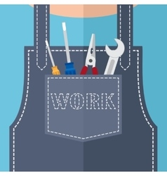Pocket with repair tools vector image