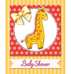 giraffe baby cartoon vector image