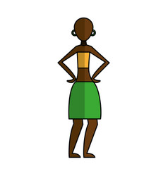 Woman figure african icon vector