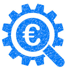euro search options icon grunge watermark vector image