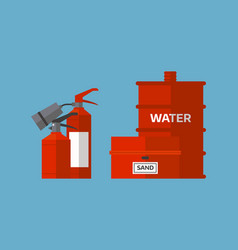 Fire extinguisher danger protection security help vector