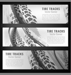 tire track banners vector image
