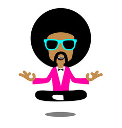 afro meditation vector image