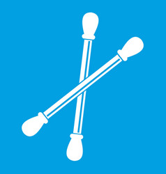 Cotton buds icon white vector
