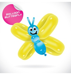 Glossy balloon butterfly vector
