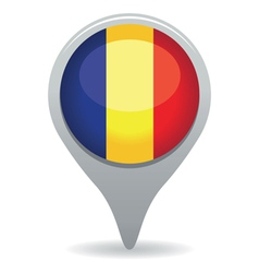 Romanian flag pointer vector