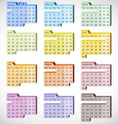 2013 Perspective Calendar vector image vector image