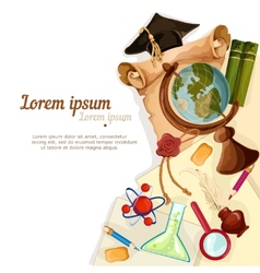 Education elements background vector image