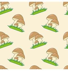 Mushrooms seamless texture vector