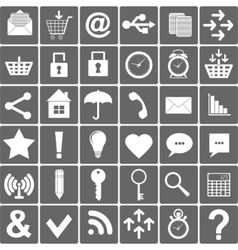 Basic smartphone icons set vector
