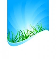 vector background with grass vector image