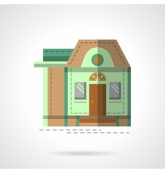 A house flat color icon vector