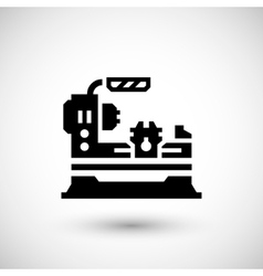 Lathe machine icon vector
