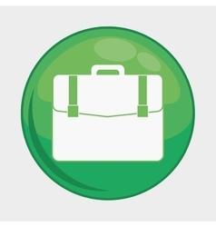 Suitcase button icon social media design vector