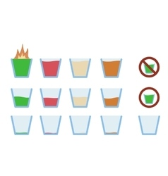 Alcohol shot drink in glass vector