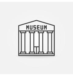Museum building icon vector