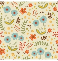 A beautiful seamless floral pattern vector image vector image