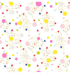 Confetti seamless glitter white background vector