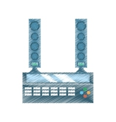 Drawing home theater sound movie tv vector
