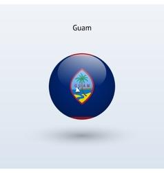 Guam round flag vector