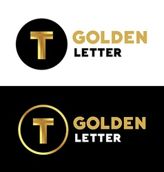 Letter T logo icon design template elements vector image