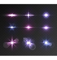Lighting flare set vector
