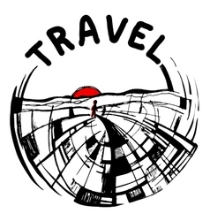 Logo painted travel vector
