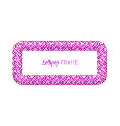 Lollipop violet rectangle frame vector