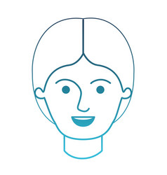 Male face with middle part hairstyle in degraded vector