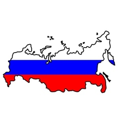 Map in colors of Russia vector image vector image