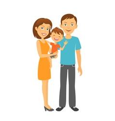 Mother and father with baby Happy parents vector image vector image