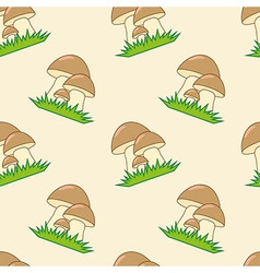Mushrooms seamless texture vector