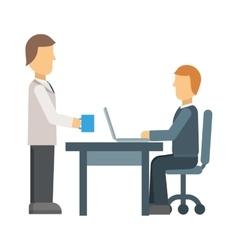 Office secretary vector image vector image