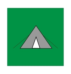 Place for tent sign in green square vector image vector image