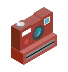 Polaroid camera isometric 3d icon vector