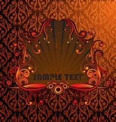 Red abstract frame vector