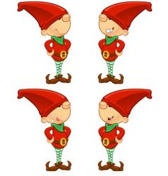 Red elf hands on hips vector