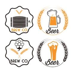 set of beer emblems vector image