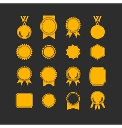 Set of medals isolated on white label designs vector image vector image