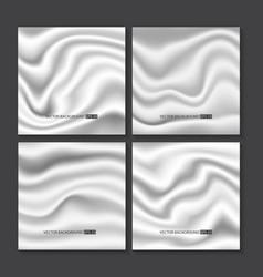 Set of white silk texture vector
