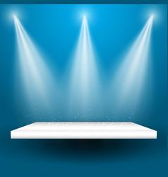 spotlights shining on a shelf vector image