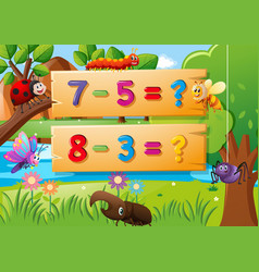 Subtraction questions and many bugs vector