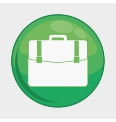 Suitcase button icon social media design vector