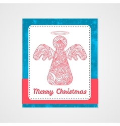 Toys on christmas tree - angel Christmas vector image