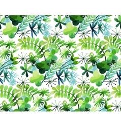 Watercolor spring pattern vector image vector image