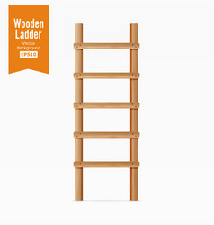 wooden ladder isolated on white background vector image vector image
